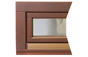 Laminated wood windows