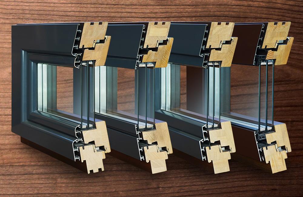 Tamplarie lemn placare aluminiu