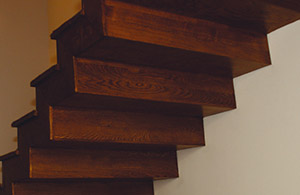 interior stairs stratified wood