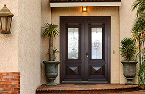 Exterior doors laminated wood