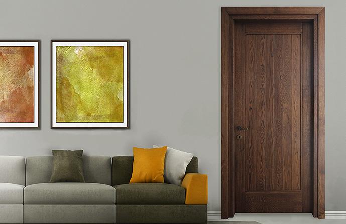 usa interior lemn stratificat rustica